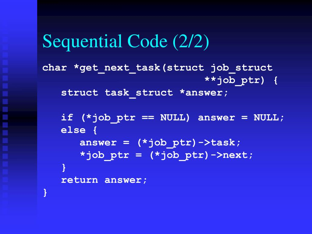 Sequential Code (2/2)