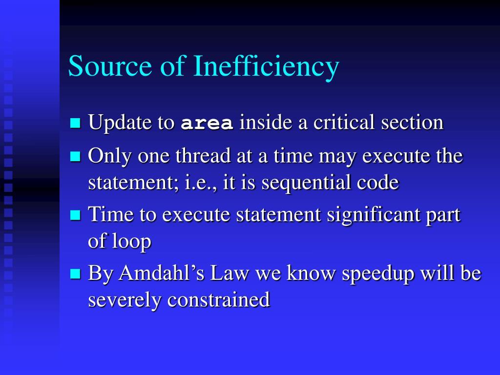 Source of Inefficiency