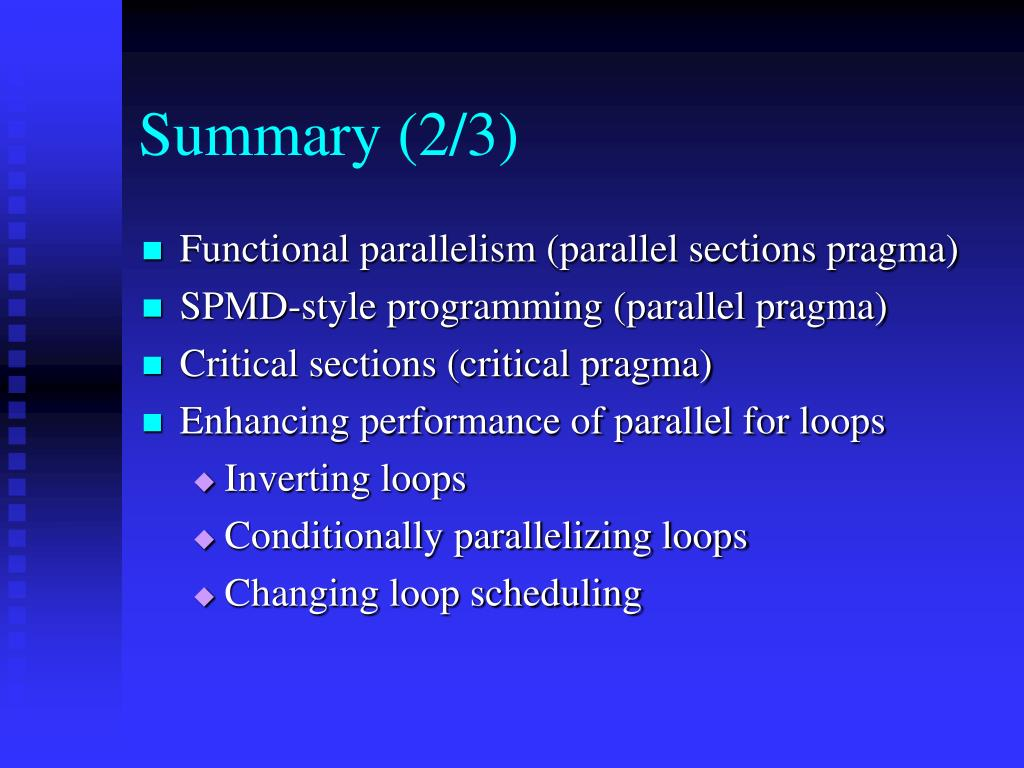 Summary (2/3)
