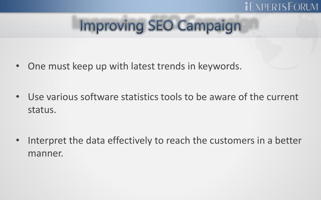Improving SEO Campaign
