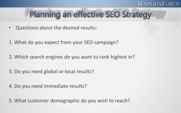 Planning an effective seo strategy3