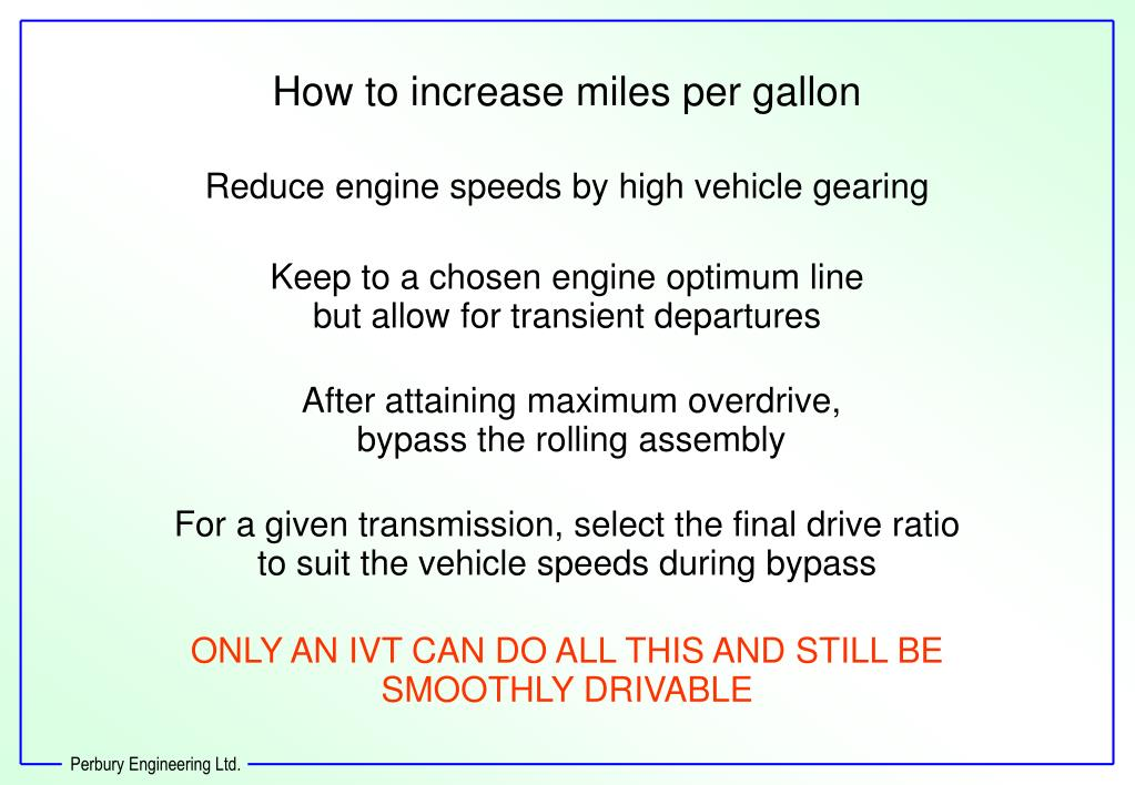 How to increase miles per gallon