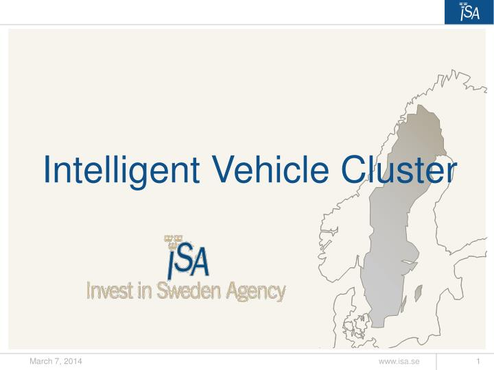 Intelligent vehicle cluster