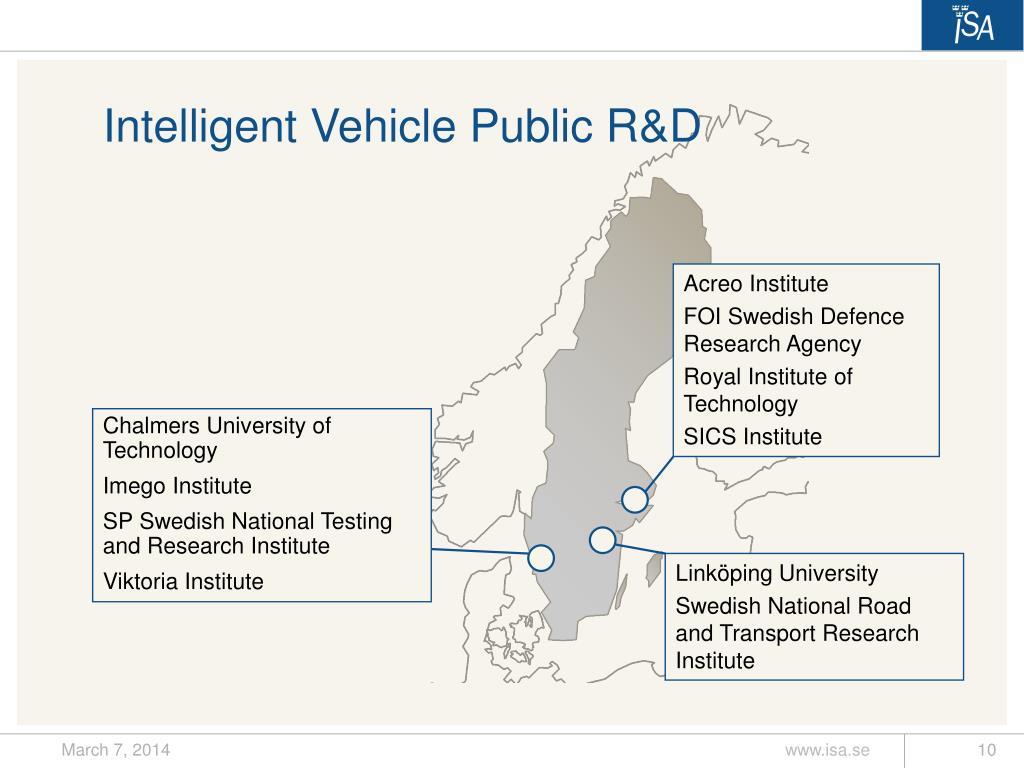 Intelligent Vehicle Public R&D