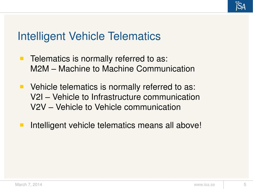 Intelligent Vehicle Telematics