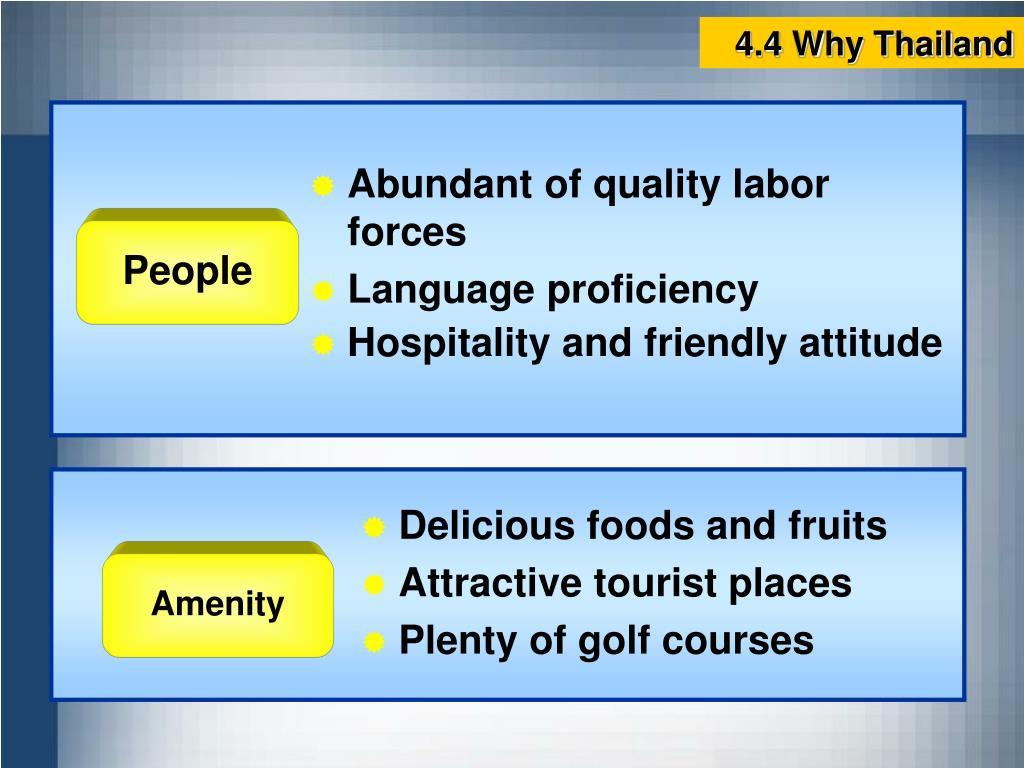 4.4 Why Thailand