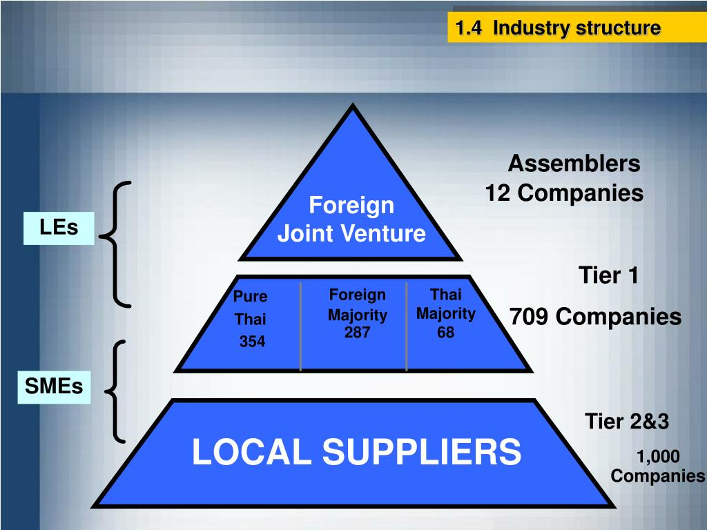 1.4  Industry structure