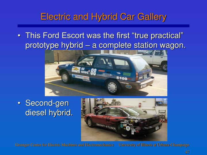 Electric and Hybrid Car Gallery