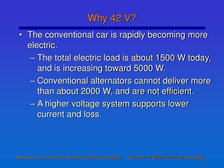 Why 42 V?