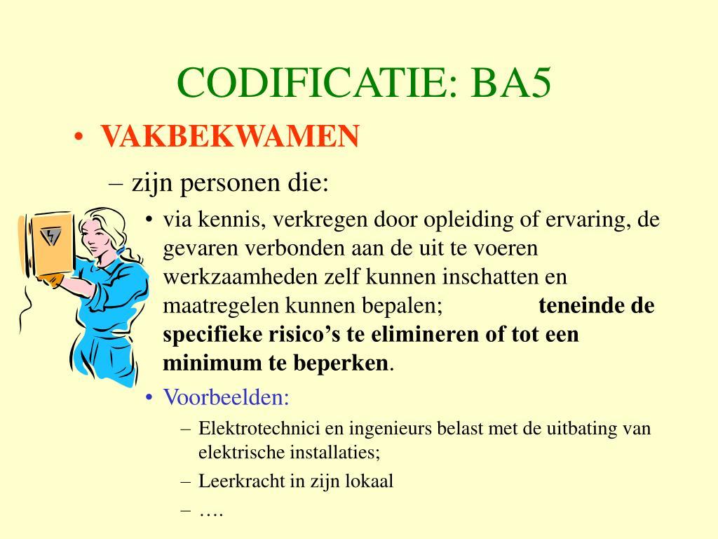 CODIFICATIE: BA5
