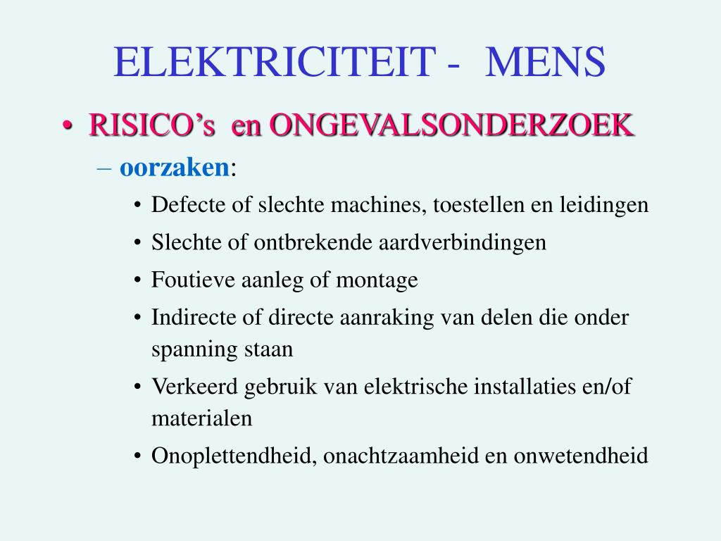 ELEKTRICITEIT - MENS