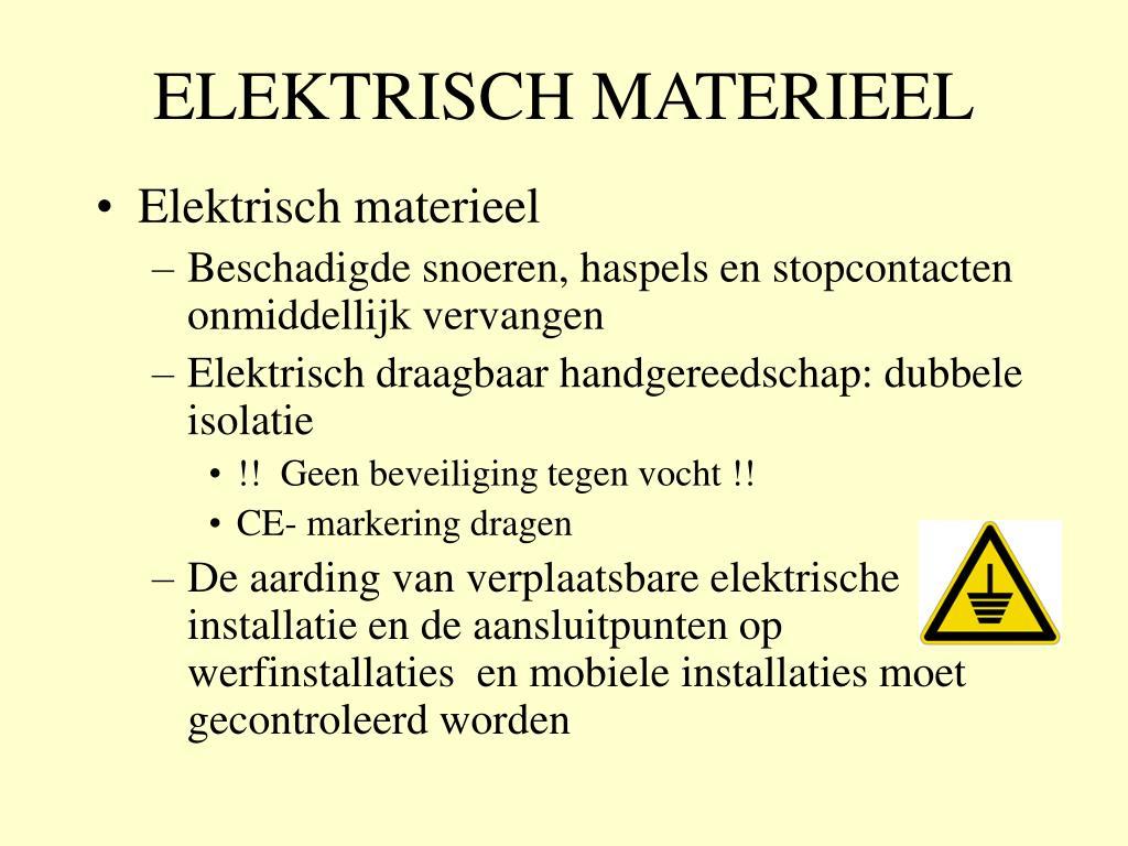 ELEKTRISCH MATERIEEL