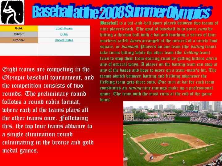 Baseball at the 2008 Summer Olympics