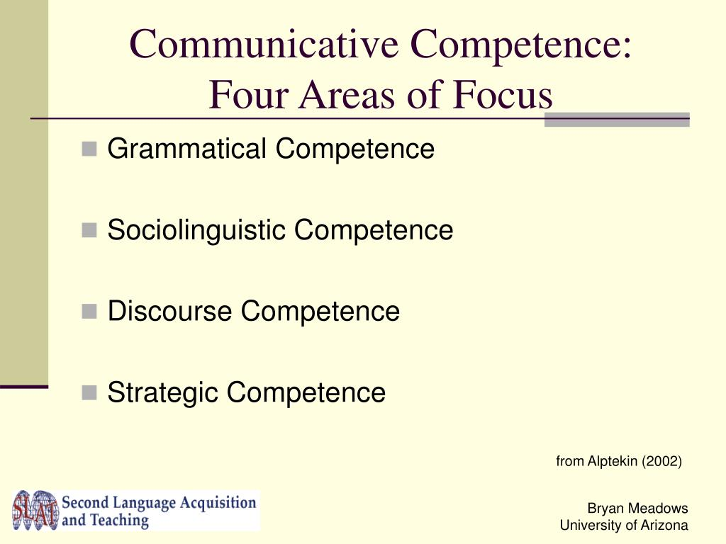 Communicative Competence: