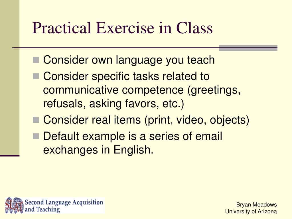 Practical Exercise in Class