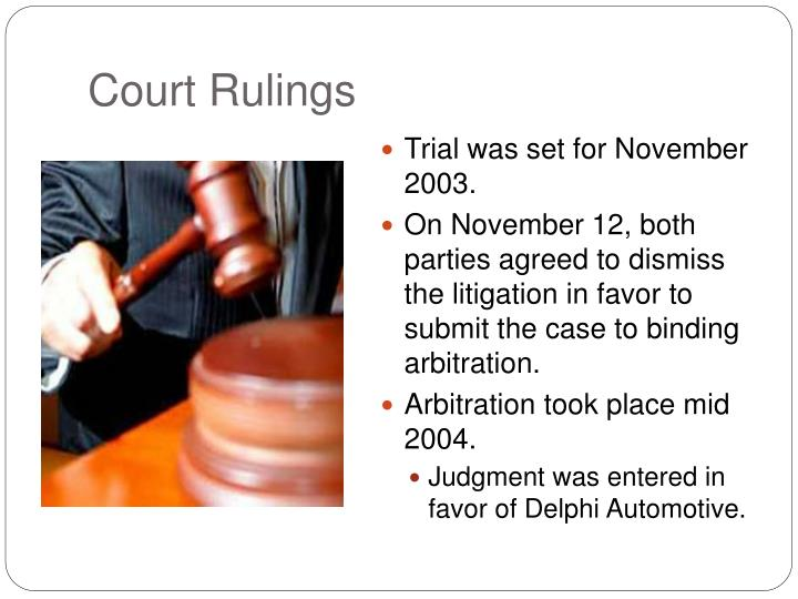 Court Rulings