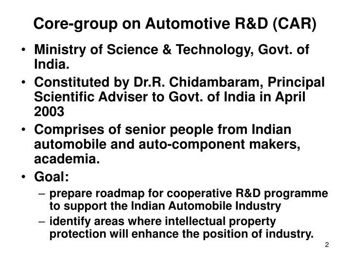 Core-group on Automotive R&D (CAR)