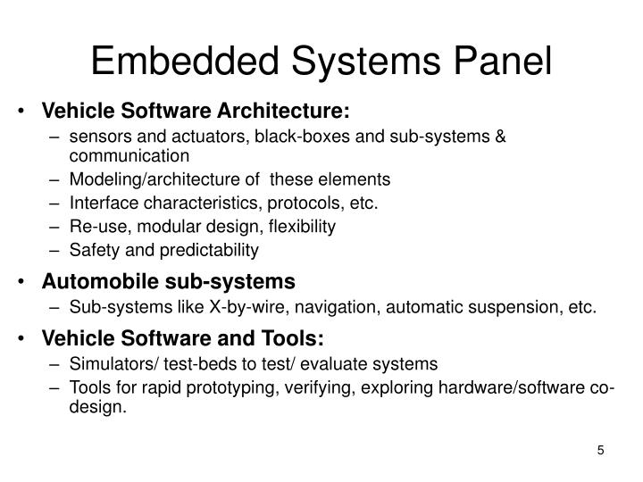 Embedded Systems Panel
