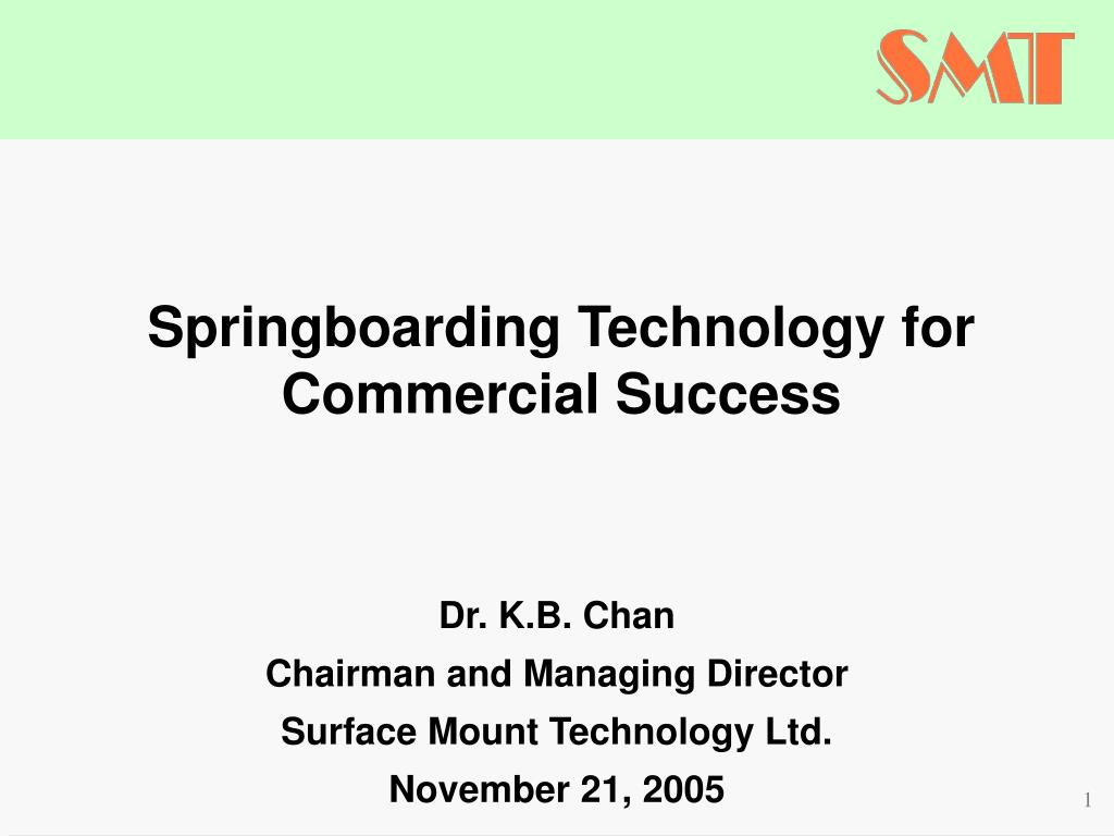 Springboarding Technology for Commercial Success