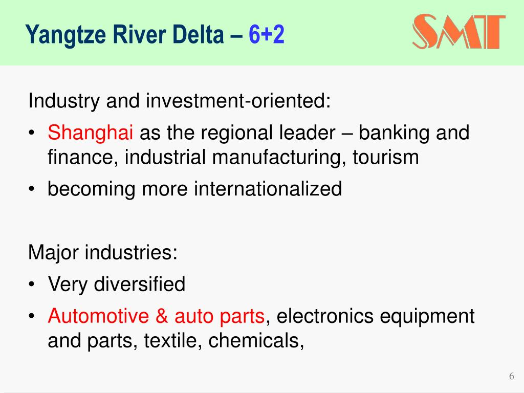 Yangtze River Delta –