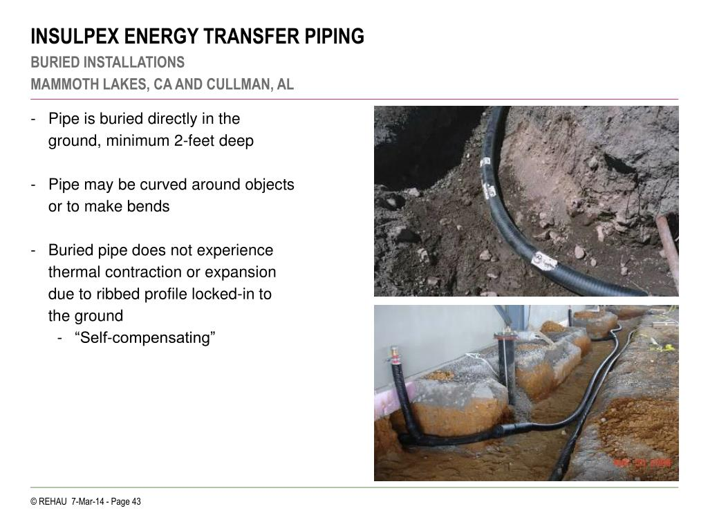 INSULPEX ENERGY TRANSFER PIPING