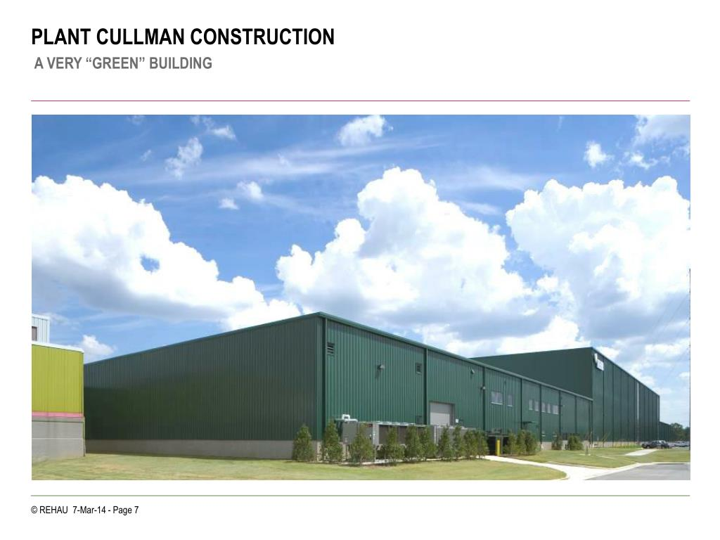 PLANT CULLMAN CONSTRUCTION