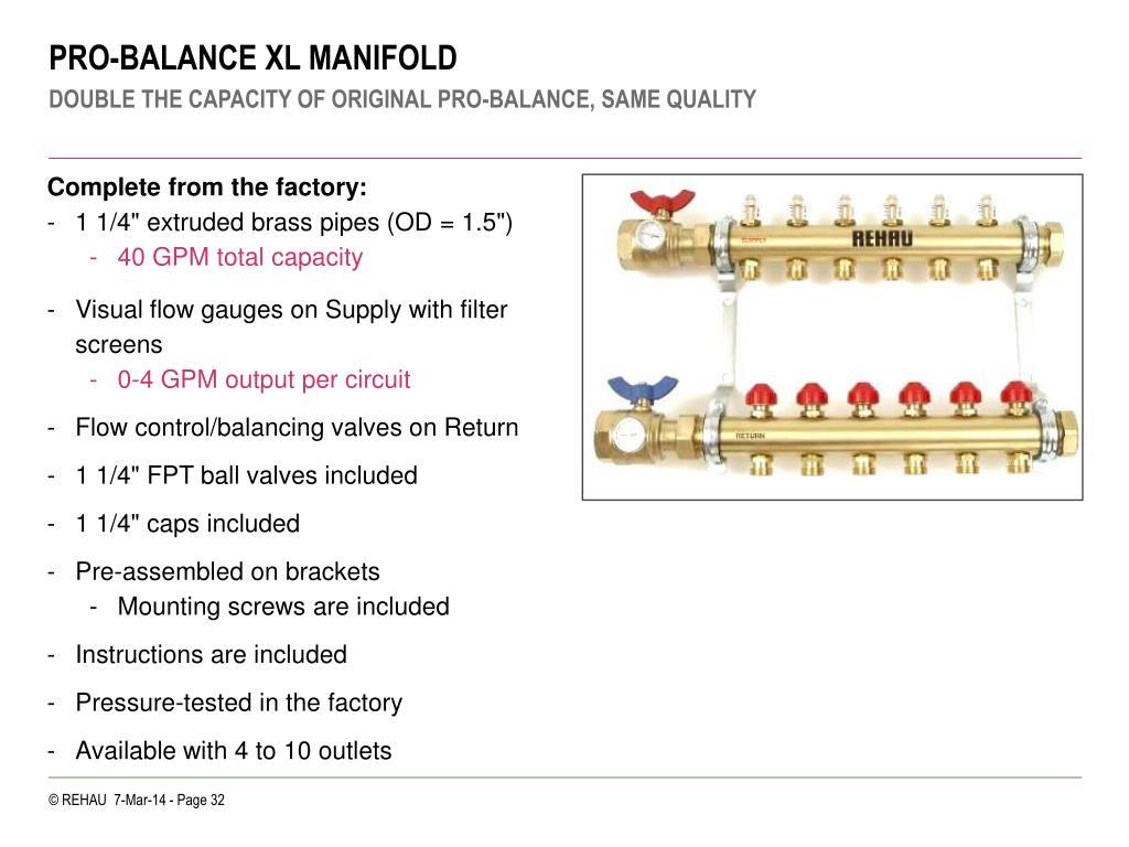 PRO-BALANCE XL MANIFOLD