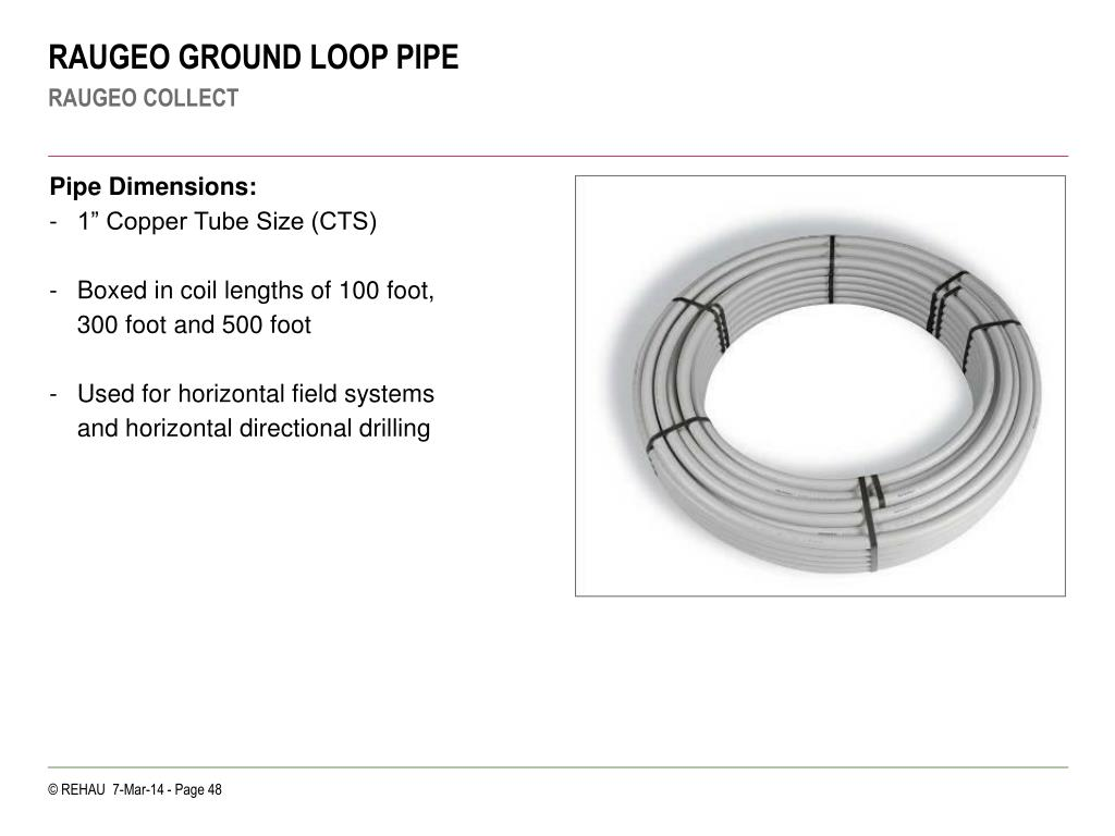 RAUGEO GROUND LOOP PIPE