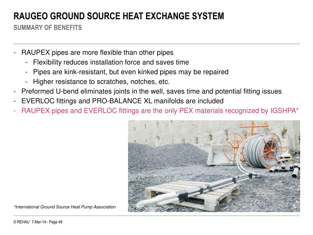 RAUGEO GROUND SOURCE HEAT EXCHANGE SYSTEM