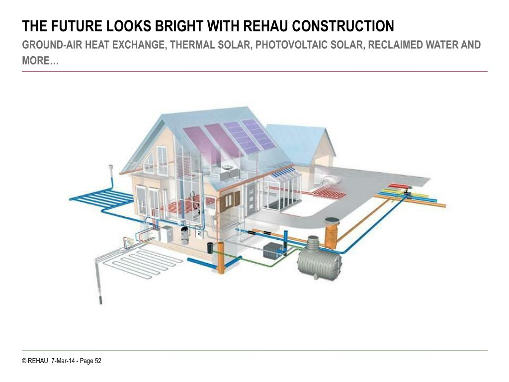 THE FUTURE LOOKS BRIGHT WITH REHAU CONSTRUCTION