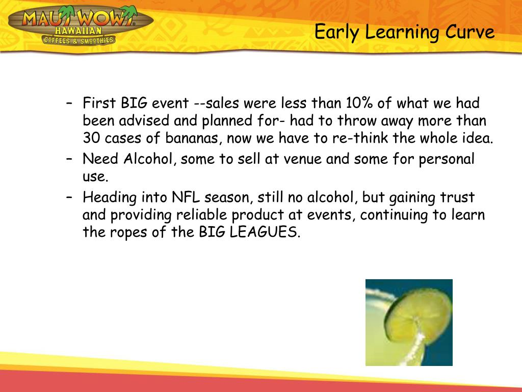 Early Learning Curve