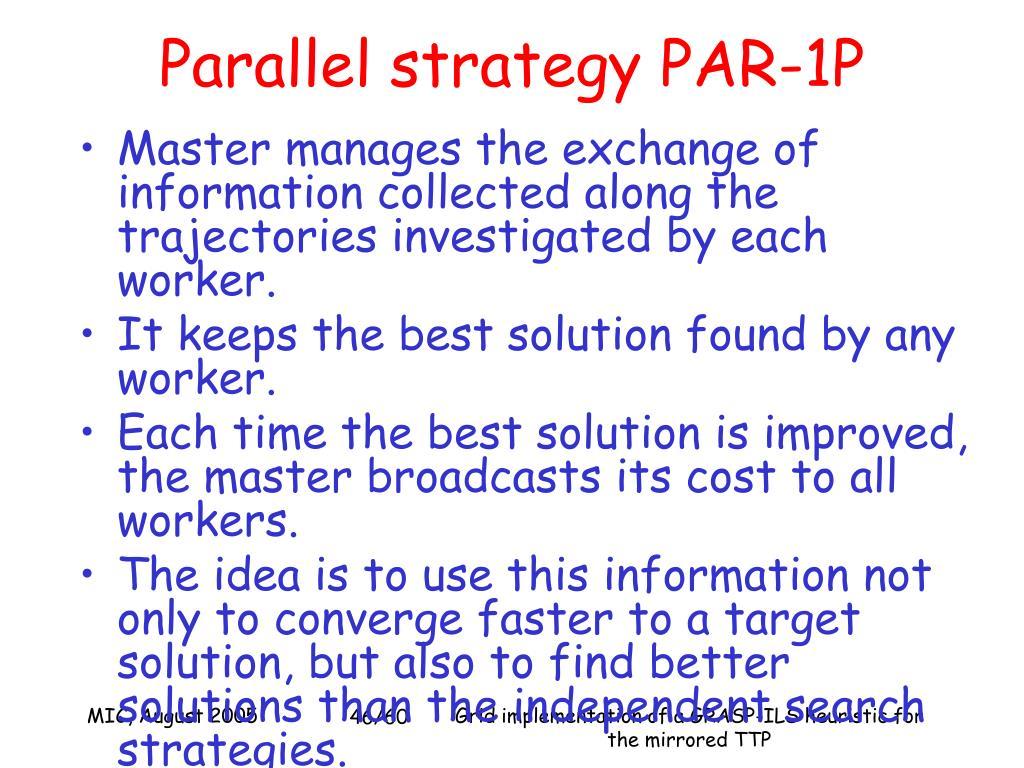 Parallel strategy PAR-1P