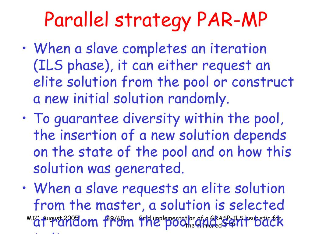 Parallel strategy PAR-MP