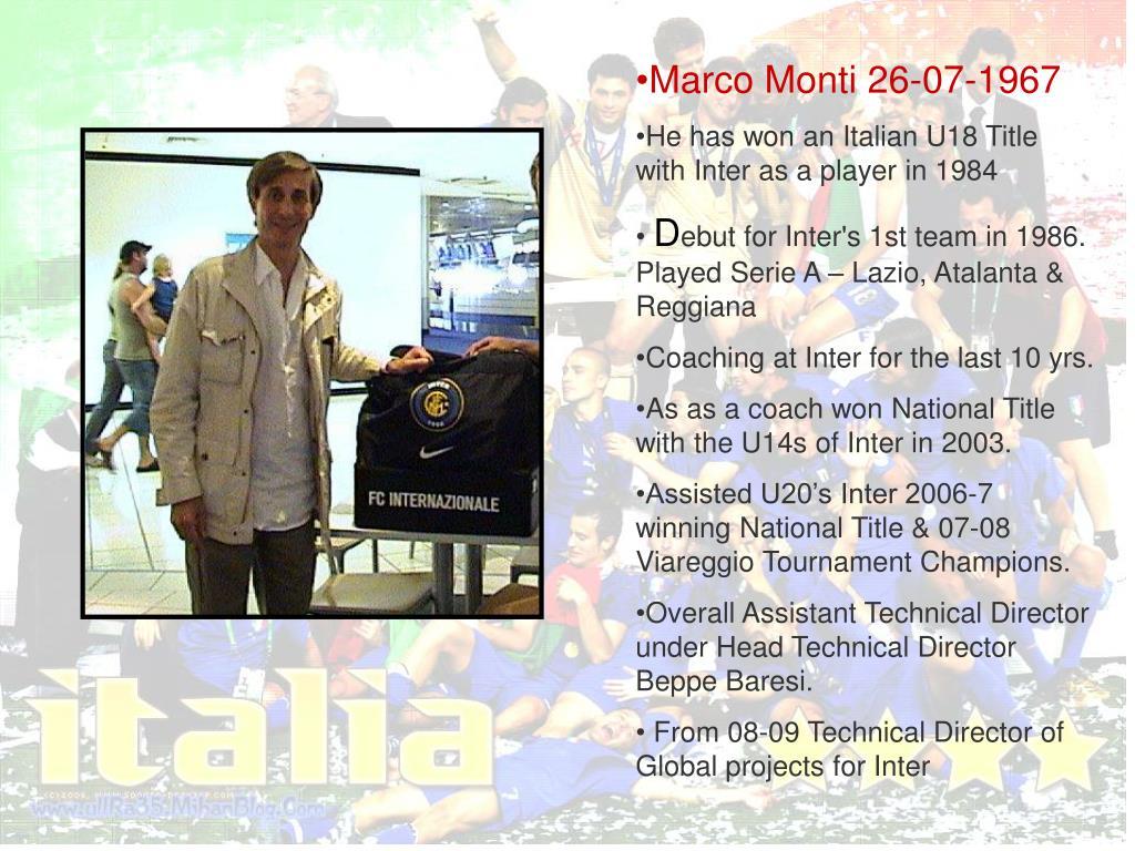 Marco Monti 26-07-1967