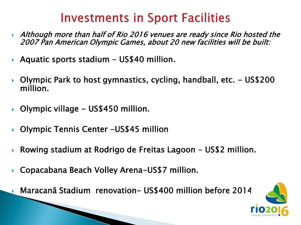 Investments in Sport Facilities