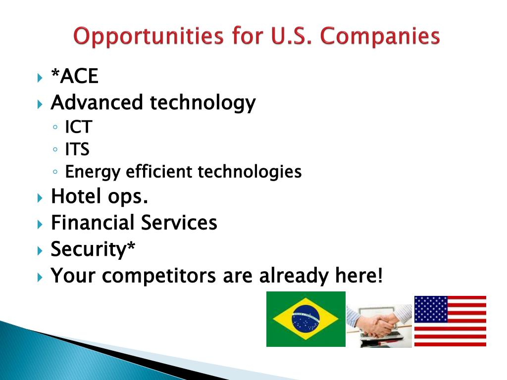 Opportunities for U.S. Companies