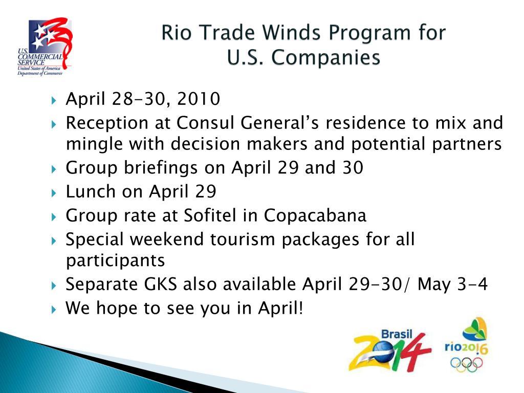 Rio Trade Winds Program for