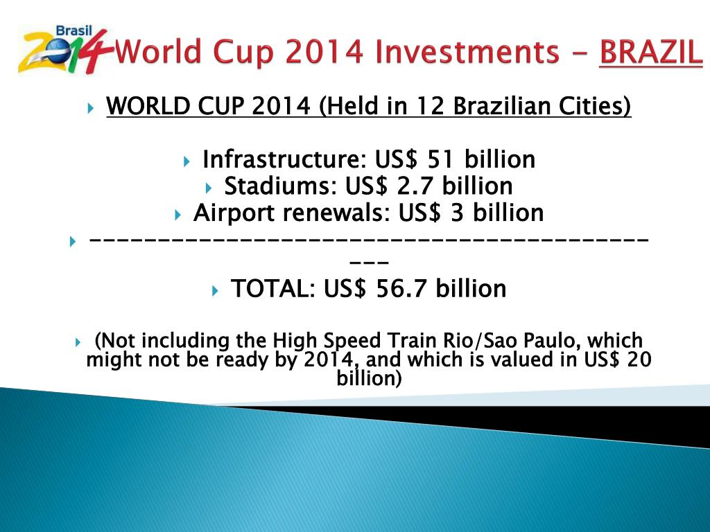 World Cup 2014 Investments -