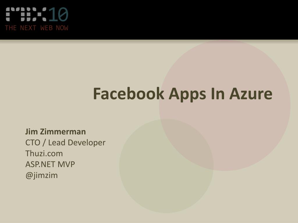 Facebook Apps In Azure