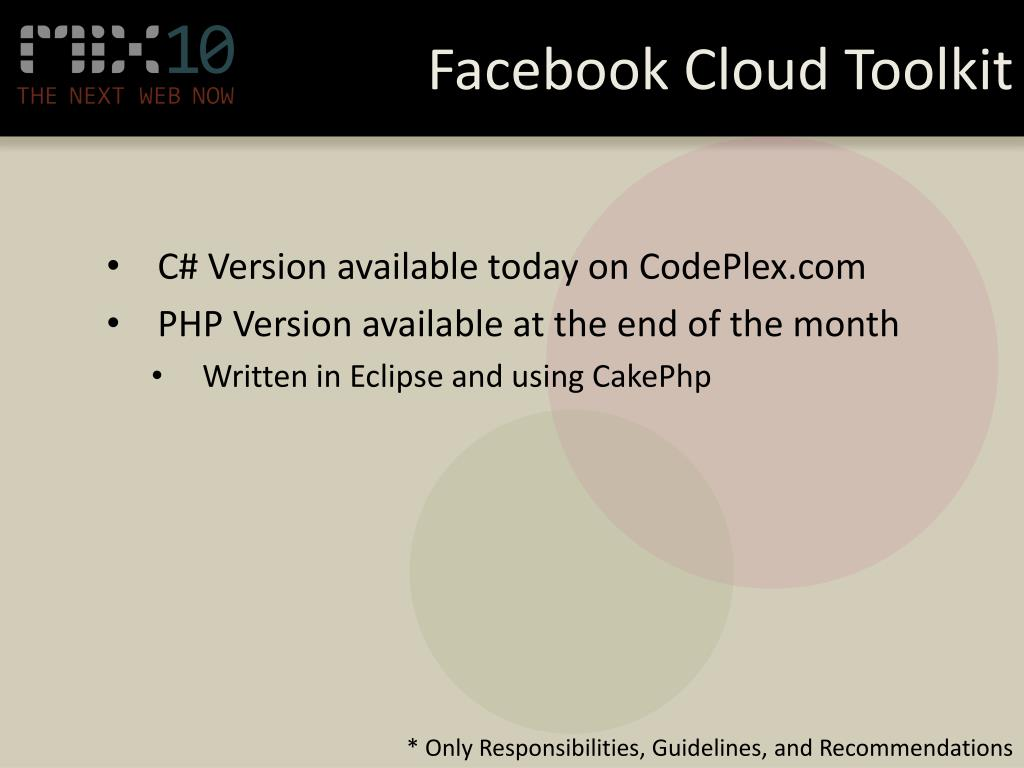 Facebook Cloud Toolkit