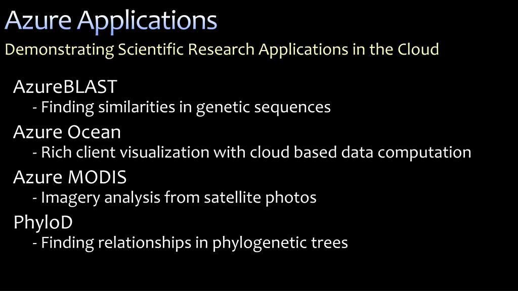 Azure Applications