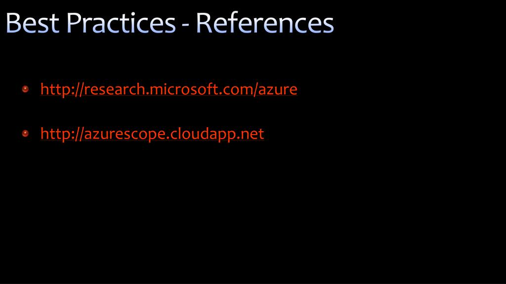 Best Practices - References