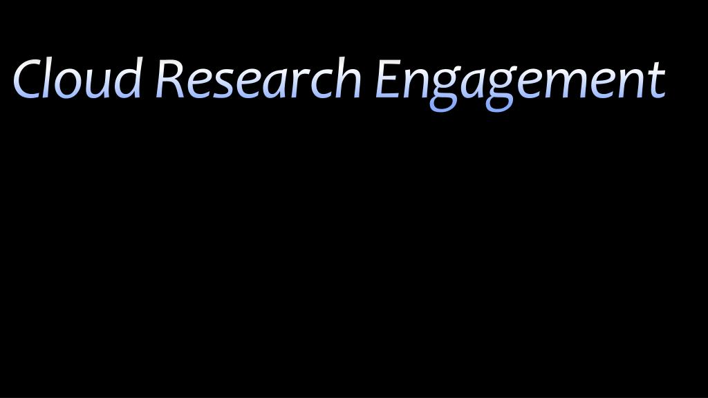 Cloud Research Engagement