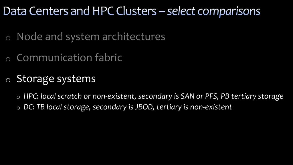 Data Centers and HPC Clusters –