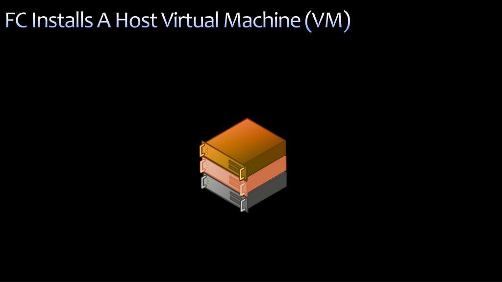 FC Installs A Host Virtual Machine (VM)