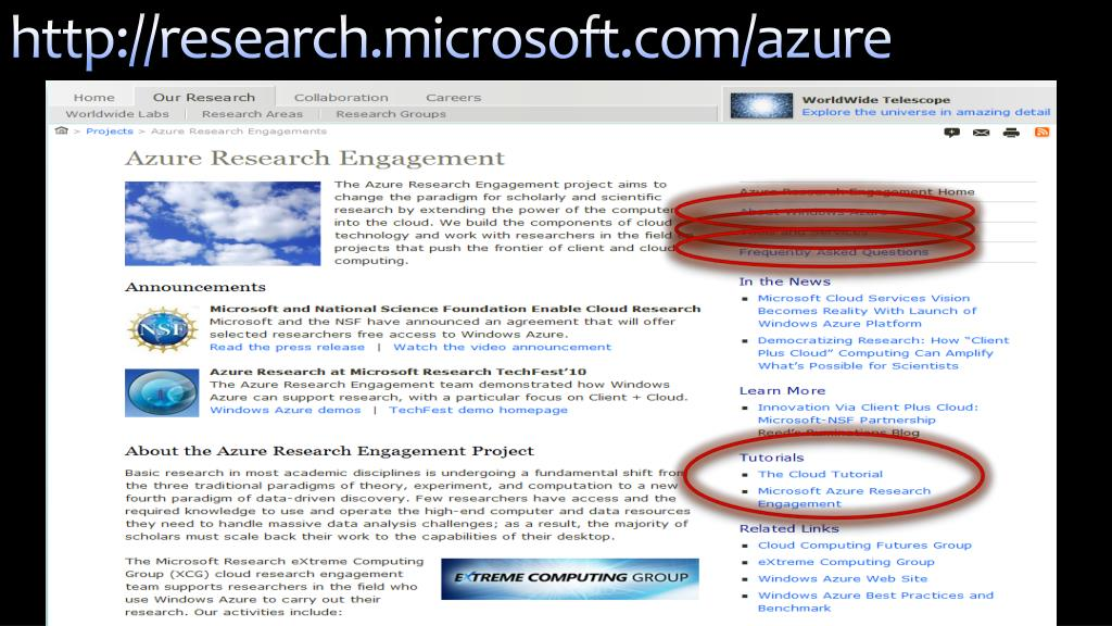 http://research.microsoft.com/azure