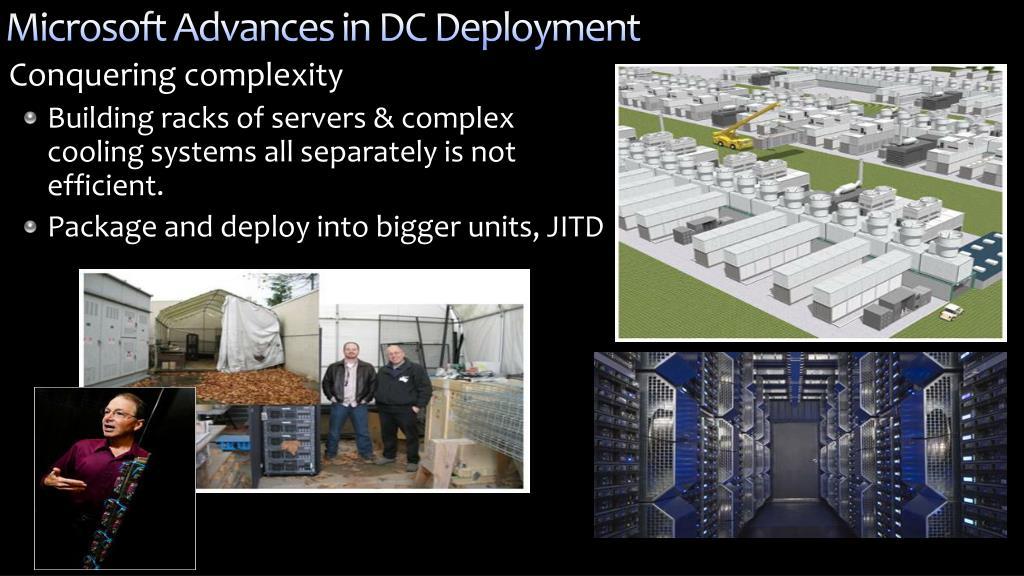 Microsoft Advances in DC Deployment