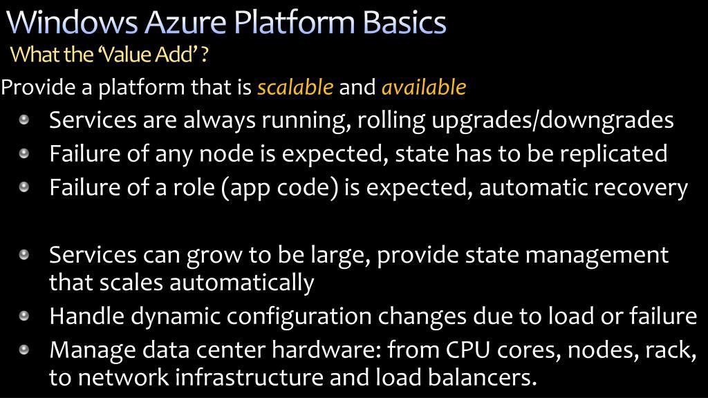 Windows Azure Platform Basics