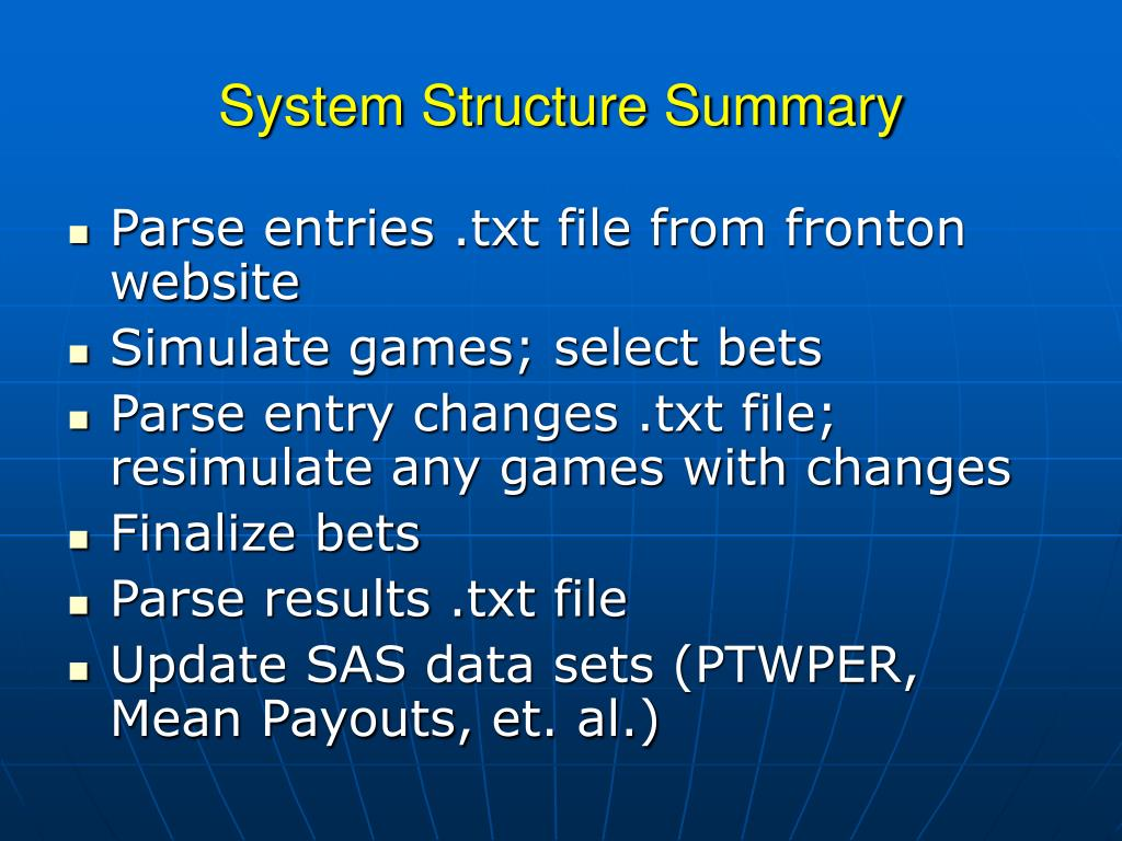 System Structure Summary