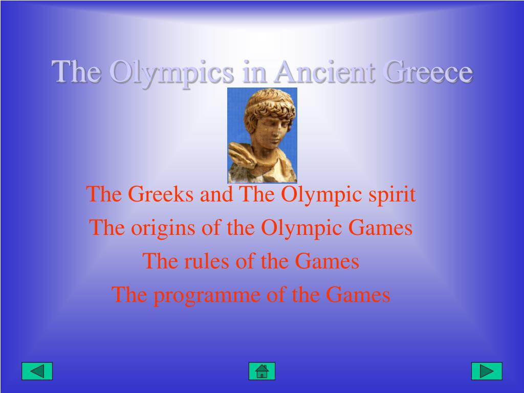 The Olympics in Ancient Greece
